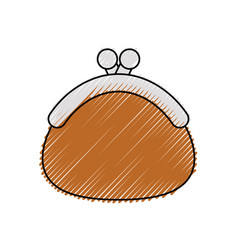 coin purse vector image