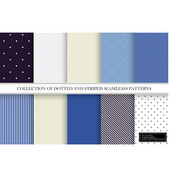 collection color delicate patterns simple vector image