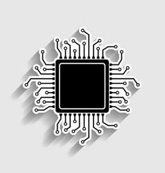CPU Microprocessor Sticker style icon vector image