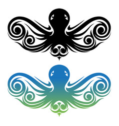 creative drawing vintage style octopus vector image