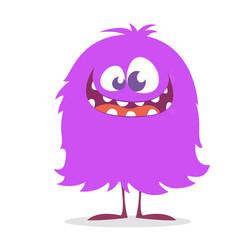 Cute cartoon monster smiling vector