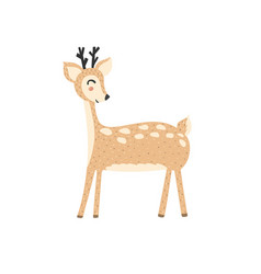 cute deer in cartoon style forest character vector image