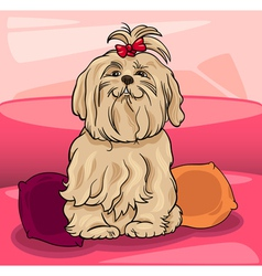 Cute maltese dog cartoon vector