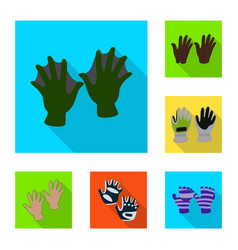 design of own and textile icon collection vector image