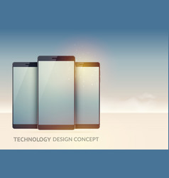 digital technology devices concept vector image