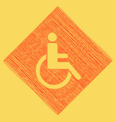 Disabled sign flat style vector