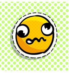 Discouraged yellow smile vector