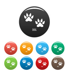 dog step icons set color vector image