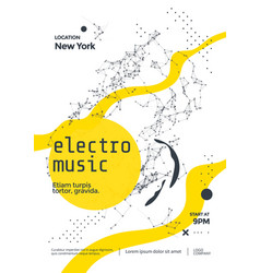 electro music modern club party flyer abstract vector image