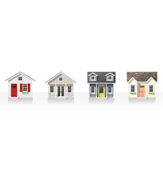 Elements of architecture with small houses vector