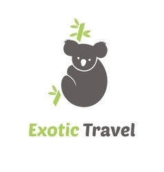 Exotic Travel Logo Template vector image