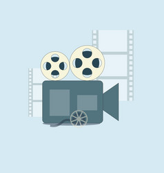 Film production camera and filmmaking vector