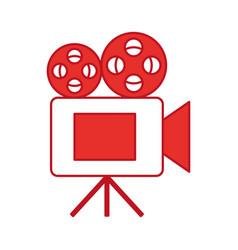 Film video camera icon vector