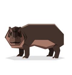 flat geometric hippopotamus vector image