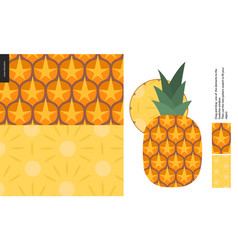 food patterns fruit pineapple vector image