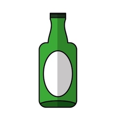 Glass bottle isolated icon vector