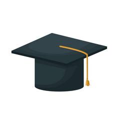 graduation cap education academy achievement icon vector image