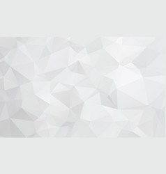 gray white polygonal mosaic background geometric vector image