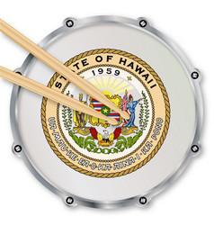 Hawaii snare drum vector