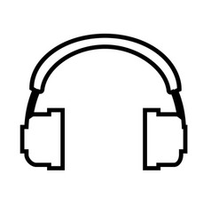 headphone outline icon headphone isolated vector image