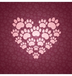 Heart of The Cat Traces vector