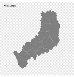 high quality map is a province argentina vector image