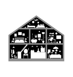 house inside vector image