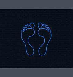 Human footprint sign icon barefoot symbol vector