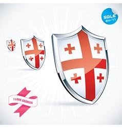 I Love Georgia Flag vector image