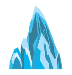 Ice Mountain isolated icon vector image