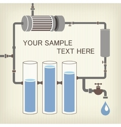 Infographics scheme with liquid a water tank vector image