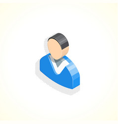 Isometric manager sign vector