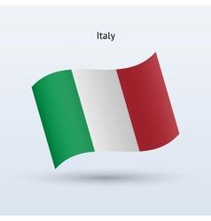 Italy flag waving form vector