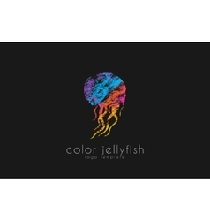 Jellyfish logo design Sea logo Ocean logo design vector