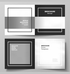 layout two covers templates for square vector image