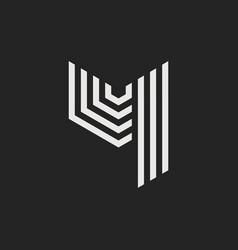 logo letter y vector image