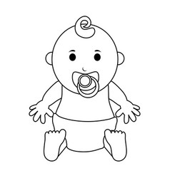 Male baby icon image vector