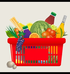 Mediterranean shopping cart vector image