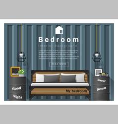 Modern bedroom background Interior design 8 vector image