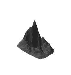 mountain rock isolated on white background 3d vector image