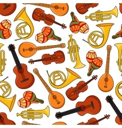 Music equipment instruments seamless pattern vector
