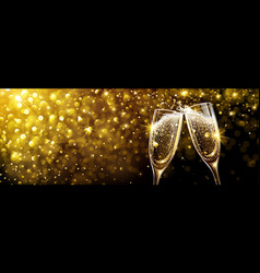 New year background with champagne vector