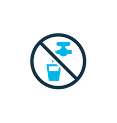 non potable water icon colored symbol premium vector image