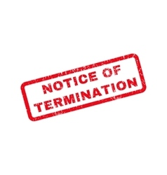 Notice Of Termination Rubber Stamp vector image