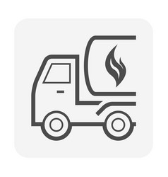 oil and gas tank on truck icon design vector image