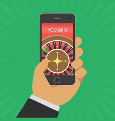 online casino on smartphone vector image