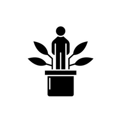 personal development black icon sign on vector image