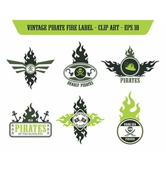 Pirate icon label sticker vector