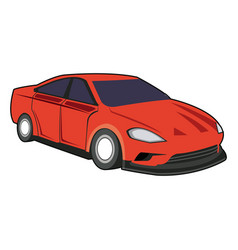 red sport car luxury speed vehicle vector image
