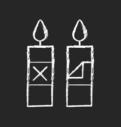 Remove candle packaging before use chalk white vector